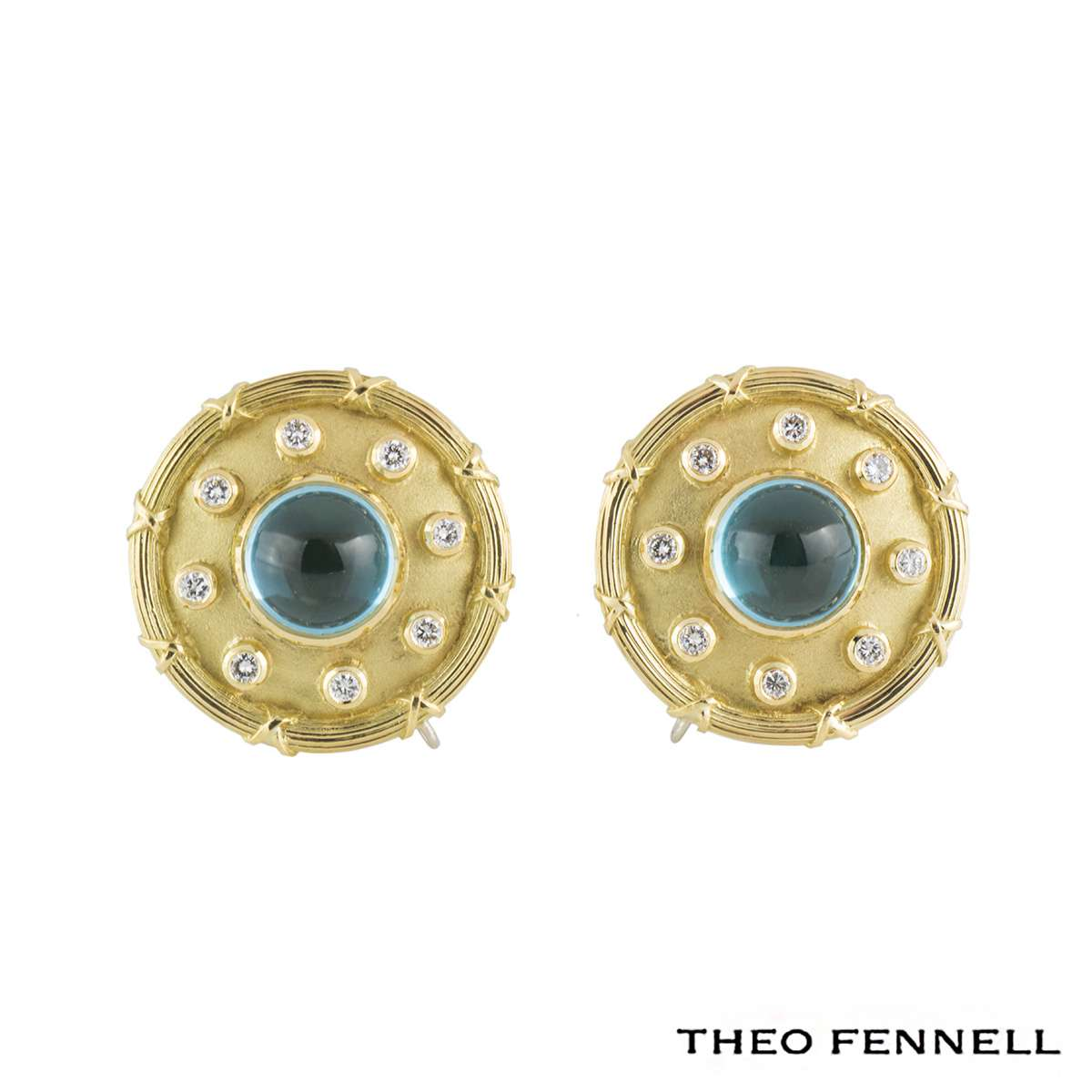 Theo Fennell Diamond Topaz Earrings 0.48ct G/VS